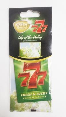 15371 Ароматизатор подвесной,бумажный,пластинка,777,Ландыш( Lily of the valley),FRESH WAY,Болгария,
