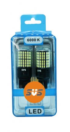 P21/5W Комплект светодиодных ламп SVS 12-24V (144-smd 12.5w 6000K Chip3014 1000Lm 1157) CANBUS
