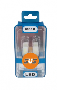 W5W Комплект светодиодных ламп SVS 12-24V (COB 2.4w 6000K Chip Sapphire 180Lm ) CANBUS
