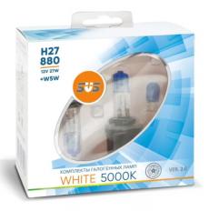 Галогенные лампы SVS серия White 5000K H27/880 27W комплект 2 шт