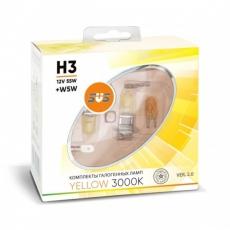 Галогенные лампы SVS серия YELLOW H3 55W+W5W комплект 2шт.