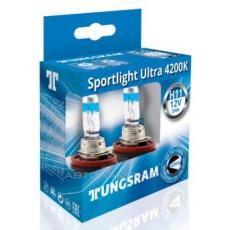 Автолампа Н11 12V 55W PGJ19-2 SportLight Ultra Tungsram (комплект 2шт)