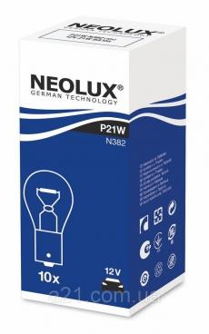 N382 Автолампа 12V P21W BA15s (одноконт.) Neolux
