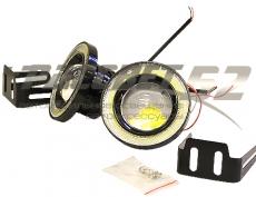 Фара п/туманная светодиодная-89мм LED SUPERLAMP FOGANGEL EYES
