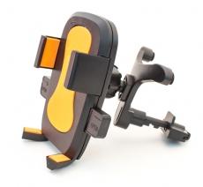D4202 Держатель для мобильного телефона на решетку воздуховода Кальмар-006, оранжевый, в блистере