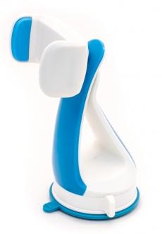 D4206 Держатель для мобильного телефона на любую плоскость на присоске NiceCar, синий, в блистере