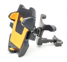 D4216 Держатель для мобильного телефона на решетку воздуховода Кальмар-018, оранжевый, в блистере