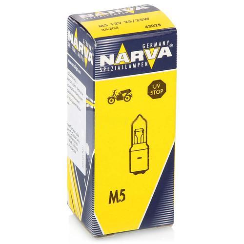 42025 Мотолампа M5 12V-25/25W (BA20d)NARVA