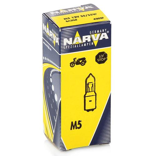 42027 Мотолампа M5 12V-35/35W (BA20d)NARVA