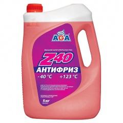 002 Антифриз, готовый к применению, красный, -40С 5 литров ANTIFREEZE AGA-Z40,
