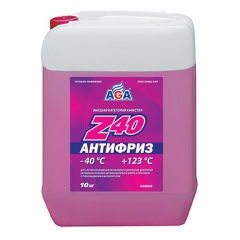 003 Антифриз, готовый к применению, красный, -40С 10 литров ANTIFREEZE AGA-Z40, PREMIX