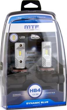 MLHB4K5 Комплект светодиодных ламп HB4 серия DYNAMIC BLUE LED 5500K MTF Гарантия 1 год.