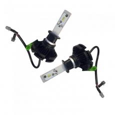 Комплект светодиодных ламп SVS H1 серии X3 (к-ты фильтра W/Y) (CSP-чип/6000Lm/5000K/9-32V/50W)