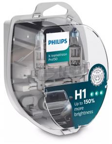 12258XVPS2 Автолампа 12V H1 P14.5s 55W (комплект 2шт) X-treme Vision Pro150 Philips
