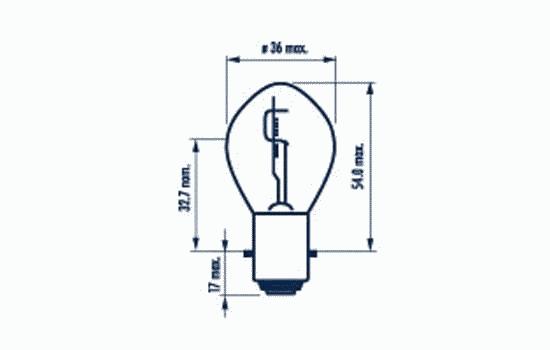 49531 Мотолампа S2 12V-35/35W (ВА20d) Narva
