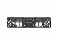 Камера заднего вида в рамке номерного знака черная, ИК подсветка матрица CMOS, угол обзора 170, питание 12В, парк линии