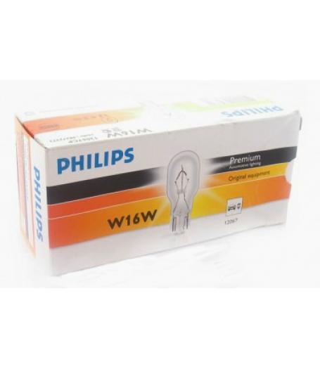 Автолампа 12V W16W W2,1x9,5d Philips 12067
