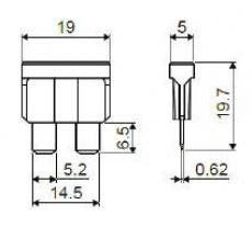 901850 ПредохранительMEDIUM W270 (10 АМПЕР)