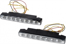 902633 Дневные ходовые огни c ф-цией поворотника,БЕЛЫЙ (LED:2x8шт), 12V,мощность:2x2W