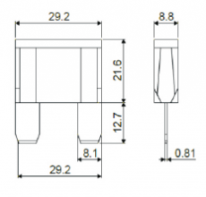 904653 Предохранитель MAX W272 (евро стандарт) 90 Ампер