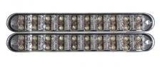 904845 Дневные ходовые огни, c ф-цией поворотника (LED:0.3Wx20 шт БЕЛ.0.3Wx10шт Жел. 12V 6500K-7000K