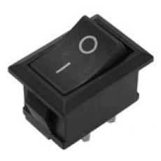 905443 Клавиша 12V 15А Mini черная с подсветкой (3конт.) ON-OFF