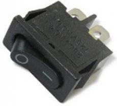 905471 Клавиша 250V 6А Mini черная (2конт.) ON-OFF