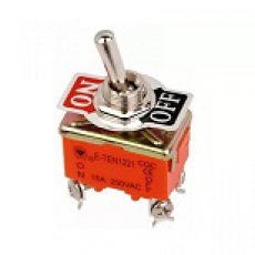 905524 Тумблер 250V 15А однополюсный металл (2конт.) ON-OFF