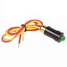 905541 Индикатор 12V малый D=8 с проводом зеленый LED