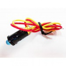 905543 Индикатор 12V малый D=8 с проводом синий LED