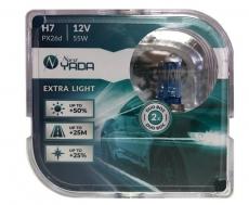 907365 H7 12V 55W автолампа EXTRA LIGHT +50 % Plastic case - 2шт Nord YADA