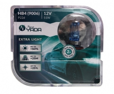 907369 HB4(9006) 12V 51W автолампа EXTRA LIGHT +50 % Plastic case - 2шт Nord YADA