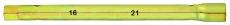 A1015  Ключ-трубка свечная, двухсторонняя 16 - 21 мм, длина 30 см