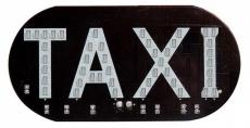 D7039 Табличка TAXI светодиодная в пакете Белая