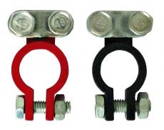 J0002  Клемма аккумулятора красная+черная (6-12 В), 2шт. в блистере