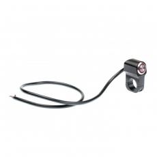 Выключатель влагозащищенный 2252,не фиксир-й. однокнопочный, цв.черный, под трубу D22мм