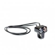 Выключатель влагозащищенный 2255, двукноп.1кноп фикс 1 не фикс, цв.черный, под трубу D22мм
