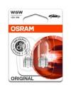 Автолампа W5W 12V W2,1X9,5D бесцокольная (блистер 2шт) OSRAM 2825-02B