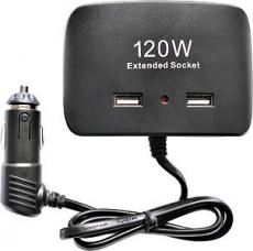 R4151 Разветвитель 3 гнезда 2 USB, Olesson 1511, черный