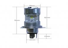 V2 Светодиодная мотолампа Н4 70W 12V 6000LM 6000K (1шт)