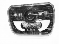 Светодиодная фара 45W (1шт.) ближ/дальн. LT-GZD05205-45W 1*10W+7*5W