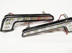 Ходовые огни DRL-Z-8SMD (изогнут..корп.8диод)