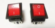 905456 Клавиша 250V 15А красная с подсветкой (6конт.) ON-ON