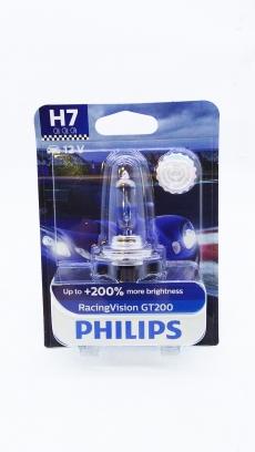 12972RGTB1 Автолампа 12V H7 PX26d55W (блистер 1шт) Racing Vision GT-200 Philips