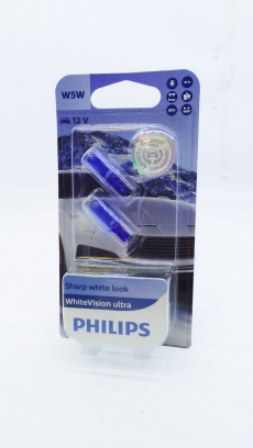 12961WVUSM Автолампа 12v W5W 5w (блистер 2шт.) White Vision Ultra +60% Philips