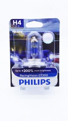 12342RGTB1 Автолампа 12V H4 P43t 60/55W (блистер 1шт) Racing Vision GT-200 Philips