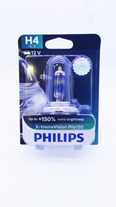 12342XVPB1 Автолампа 12V H4 P43t 60-55W (блистер 1шт) X-treme Vision Pro150 Philips