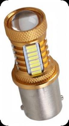1157-32(12) Лампа светодиодная 12v 1157 R5W (2конт) 32smd Линза
