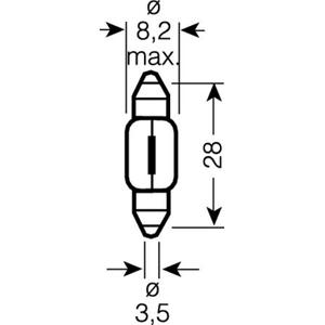 Автолампа 12V C3W SV7-8 28mm OSRAM 6428