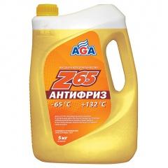 043 Антифриз, готовый к применению, желтый, -65С 5 литров ANTIFREEZE AGA-Z65, PREMIX